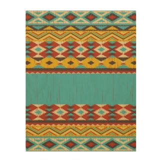 Aztec pattern Wood Wall Art Wood Prints