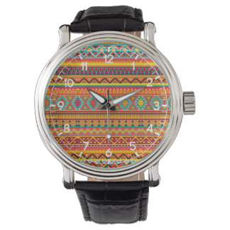 Aztec Pattern Wrist Watch