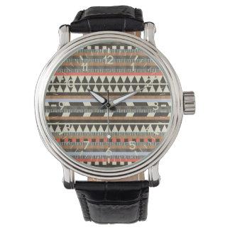 aztec pattern wristwatch