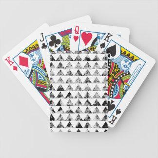 Aztec print black blank Black White Bicycle Playing Cards