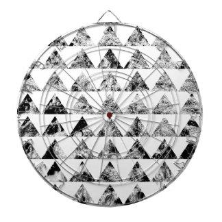 Aztec print black blank Black White Dartboard