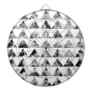 Aztec print black blank Black White Dartboards