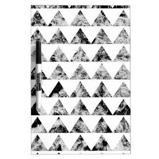 Aztec print black blank Black White Dry Erase Board