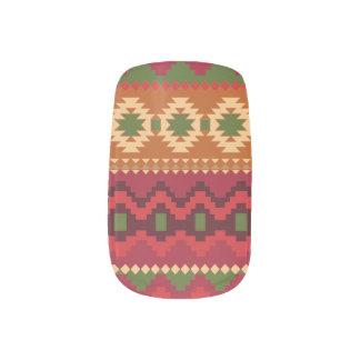 Aztec print Minx Nail Art
