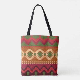 Aztec print tote bag