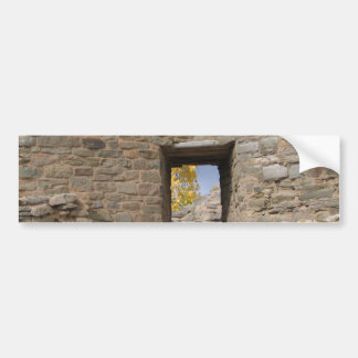 aztec ruin a look at fall through the window bumper sticker