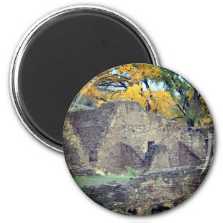 aztec ruins in new mexico fall scene magnet