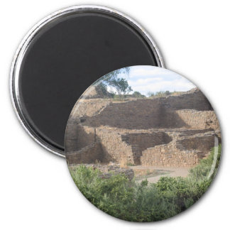 aztec ruins new mexico brick structure magnet