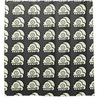 Aztec Skull Shower Curtain