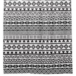 Aztec Style Rpt Ptn Black on White