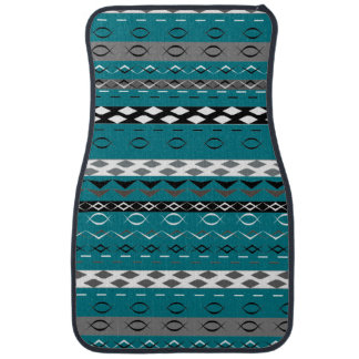 Aztec Style Stripe Patterned Auto Mat