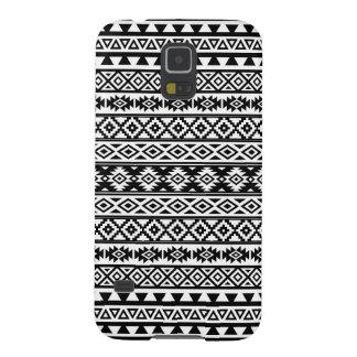 Aztec Stylized Pattern Black & White Galaxy S5 Case