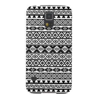 Aztec Stylized Pattern Black & White Galaxy S5 Cases
