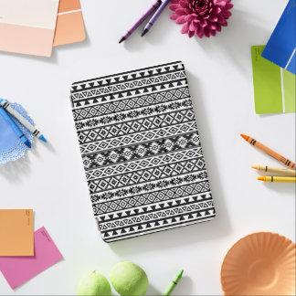 Aztec Stylized Pattern Black & White iPad Pro Cover
