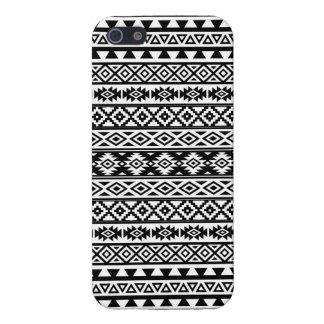 Aztec Stylized Pattern Black & White iPhone 5 Case