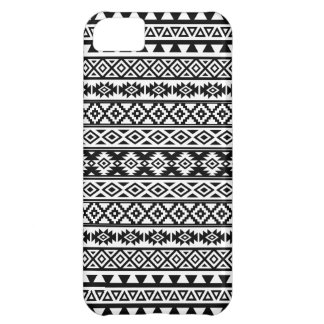 Aztec Stylized Pattern Black & White iPhone 5C Cover