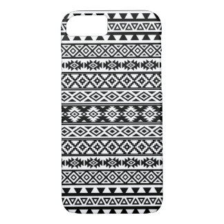 Aztec Stylized Pattern Black & White iPhone 8/7 Case