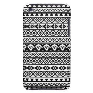 Aztec Stylized Pattern Black & White iPod Case-Mate Cases