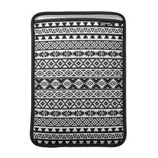 Aztec Stylized Pattern Black & White MacBook Sleeve