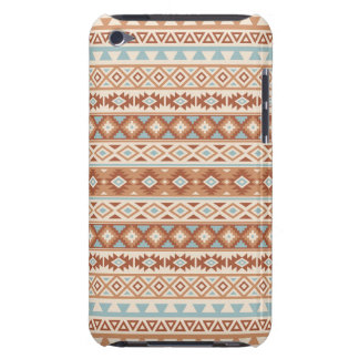 Aztec Stylized Pattern Blue Cream Terracottas Barely There iPod Cover