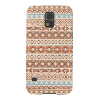 Aztec Stylized Pattern Blue Cream Terracottas Case For Galaxy S5