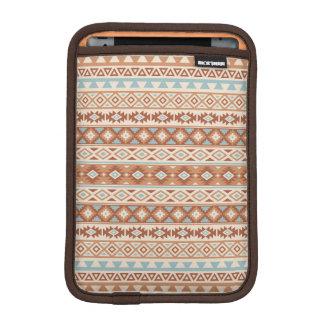 Aztec Stylized Pattern Blue Cream Terracottas iPad Mini Sleeve