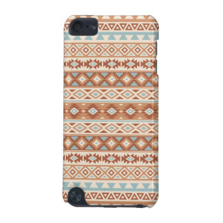 Aztec Stylized Pattern Blue Cream Terracottas iPod Touch (5th Generation) Case