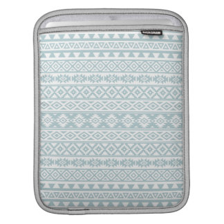 Aztec Stylized Pattern Duck Egg Blue & White iPad Sleeve