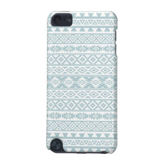 Aztec Stylized Pattern Duck Egg Blue & White iPod Touch (5th Generation) Case