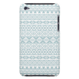 Aztec Stylized Pattern Duck Egg Blue & White iPod Touch Case