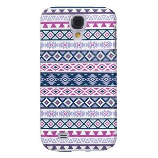 Aztec Stylized Pattern Pinks Purples Blues White