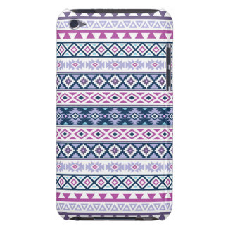 Aztec Stylized Pattern Pinks Purples Blues White Barely There iPod Case