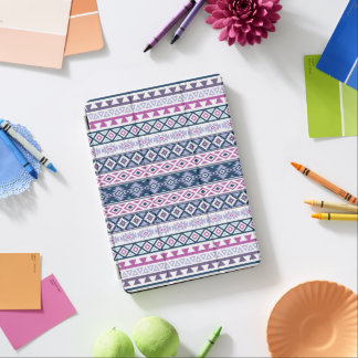Aztec Stylized Pattern Pinks Purples Blues White iPad Air Cover