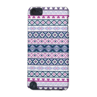 Aztec Stylized Pattern Pinks Purples Blues White iPod Touch 5G Cover
