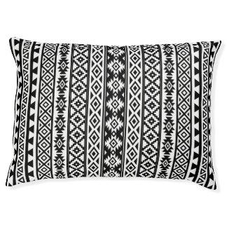 Aztec Stylized (V) Pattern Black & White Pet Bed