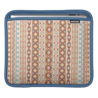 Aztec Stylized (V) Pattern Blue Cream Terracottas iPad Sleeve