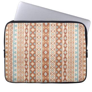 Aztec Stylized (V) Pattern Blue Cream Terracottas Laptop Sleeve