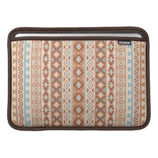 Aztec Stylized (V) Pattern Blue Cream Terracottas MacBook Sleeve