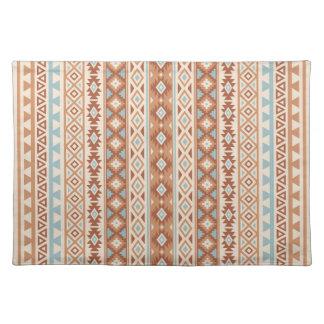 Aztec Stylized (V) Pattern Blue Cream Terracottas Placemat