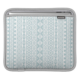 Aztec Stylized (V) Pattern Duck Egg Blue & White iPad Sleeve