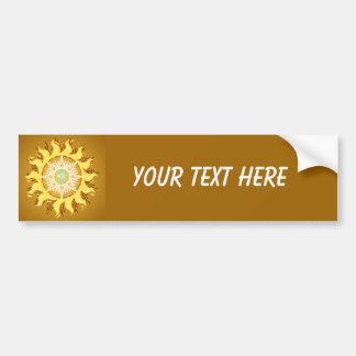 Aztec Sun Fantasy Fine Art Bumper Sticker