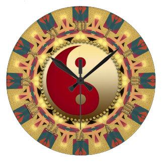 Aztec Sunshine YinYang FengShui Home Decor Clock