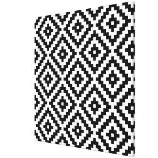 Aztec Symbol Block Big Ptn Black & White I Canvas Print
