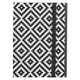 Aztec Symbol Block Pattern Black & White iPad Air Cover