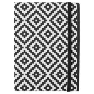 "Aztec Symbol Block Pattern Black & White iPad Pro 12.9"" Case"