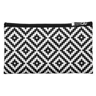 Aztec Symbol Block Ptn Black & White Cosmetic Bag