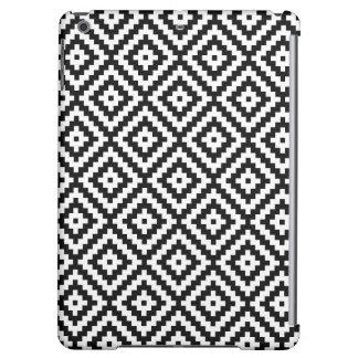 Aztec Symbol Block Ptn Black & White iPad Air Case