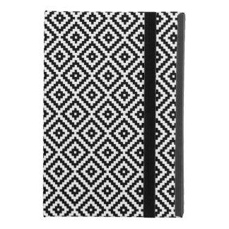 Aztec Symbol Block Rpt Ptn Black & White iPad Mini 4 Case