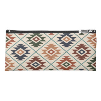 Aztec Symbol Stylized Big Pattern Color Mix Pencil Case