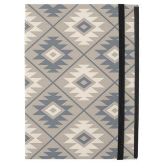 "Aztec Symbol Stylized Big Ptn Blue Cream Sand iPad Pro 12.9"" Case"